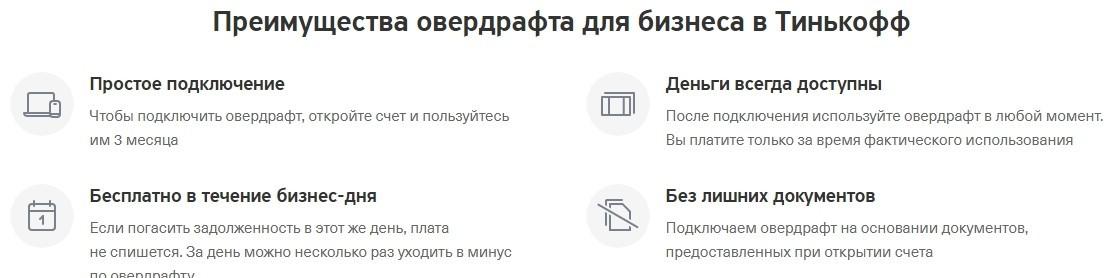 Овердрафт в банке Тинькофф